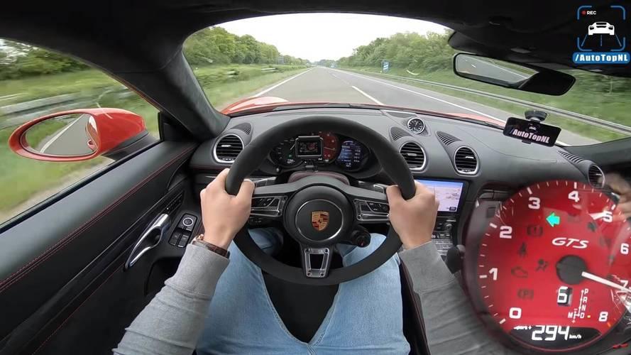 Porsche 718 Cayman GTS Hits The Autobahn, Top Speed Test Ensues
