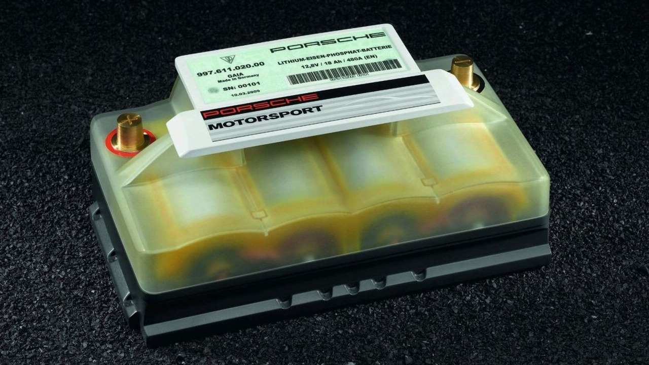 Porsche Starter Battery in Lithium-Ion Technology