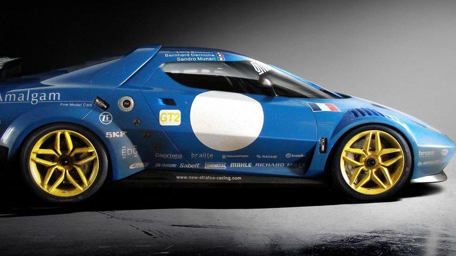 New Lacia Stratos race livery revealed via 1/8th scale model