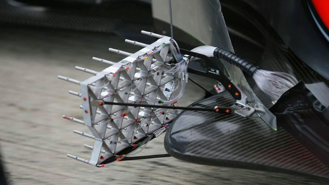 Aero sensors on the McLaren Mercedes, MP4-25, Jerez, Spain, 11.02.2010