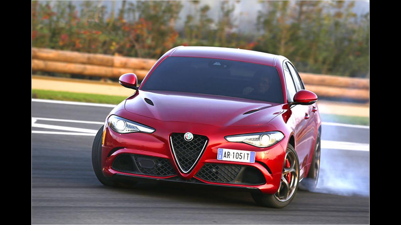 Platz 3: Alfa Romeo Giulia QV