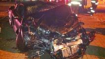 Audi R8 GT and Range Rover Evoque crash in Johannesburg