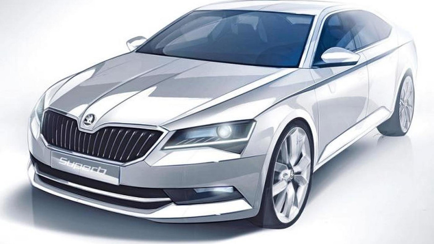 All-new Skoda Superb teased again in first sketch
