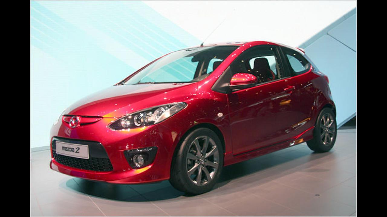 Der neue dreitürige Mazda 2 wird im Sommer 2008 auf den Markt kommen
