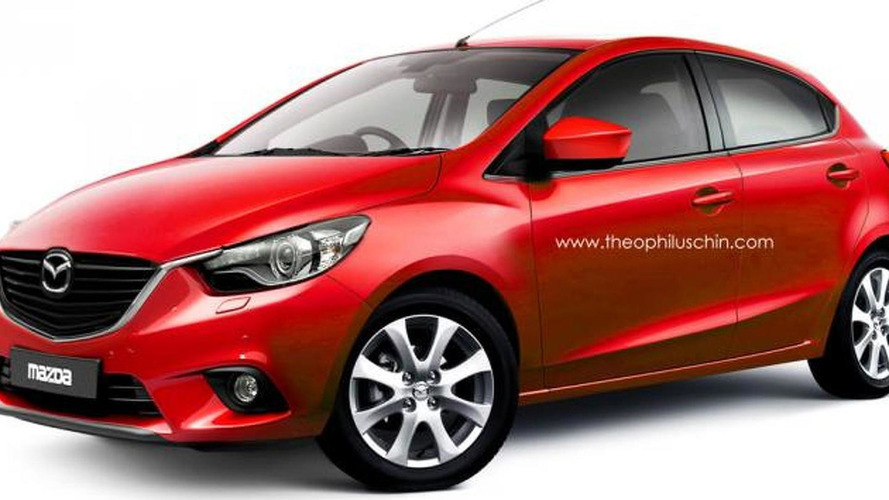 2014 Mazda2 speculatively rendered
