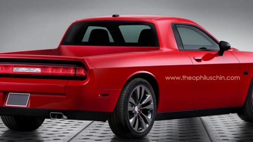 Dodge Challenger rendered as a pickup truck just for fun