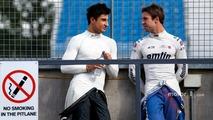 Mitch Evans, Jaguar Racing and Antonio Felix da Costa, Amlin Andretti Formula E Team