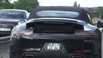 2016 Porsche 911 Carrera Cabriolet facelift screenshot from spy video