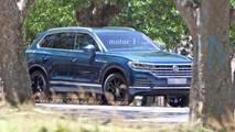 2018 VW Touareg kamuflajsız casus fotoğraf