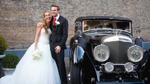 Giedo van der Garde with bride Denise Boekhooren