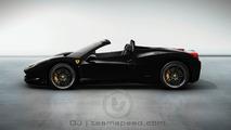 Ferrari 458 Italia Spider artist rendering, Nero color