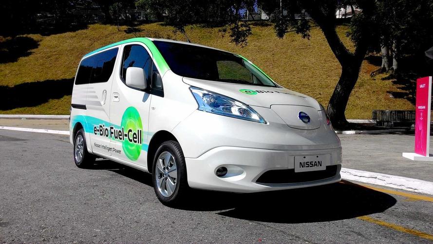 Dirigimos o Nissan SOFC, 1º veículo de célula de combustível com etanol