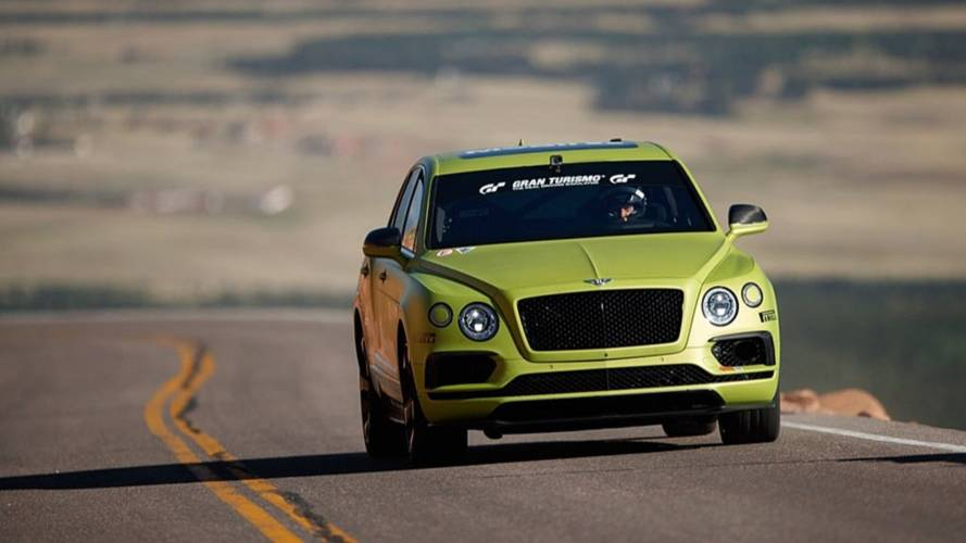Hop inside the Bentley Bentayga while it climbs to Pikes Peak