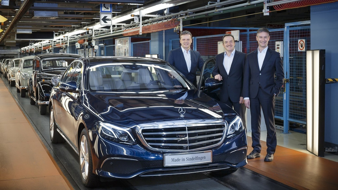 First production 2016 Mercedes E Class in Sindelfingen