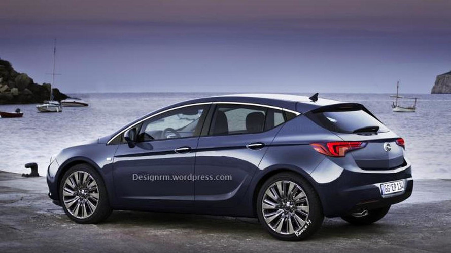 2016 Opel Astra rendered based on latest spy shots
