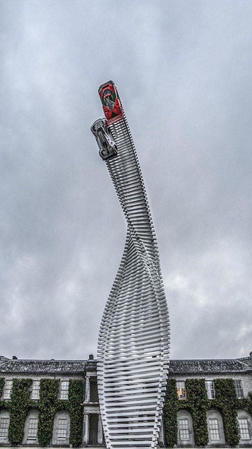 Mazda unveils their sculpture for the Goodwood Festival of Speed