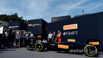 Pirelli reveal a mock up of what a 2017 F1 car and tires may look like