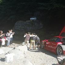 Some Guy took his Ferrari F40 Camping in Japan