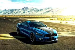 2015 Ford Mustang Dropped on a Set of Vossen Wheels