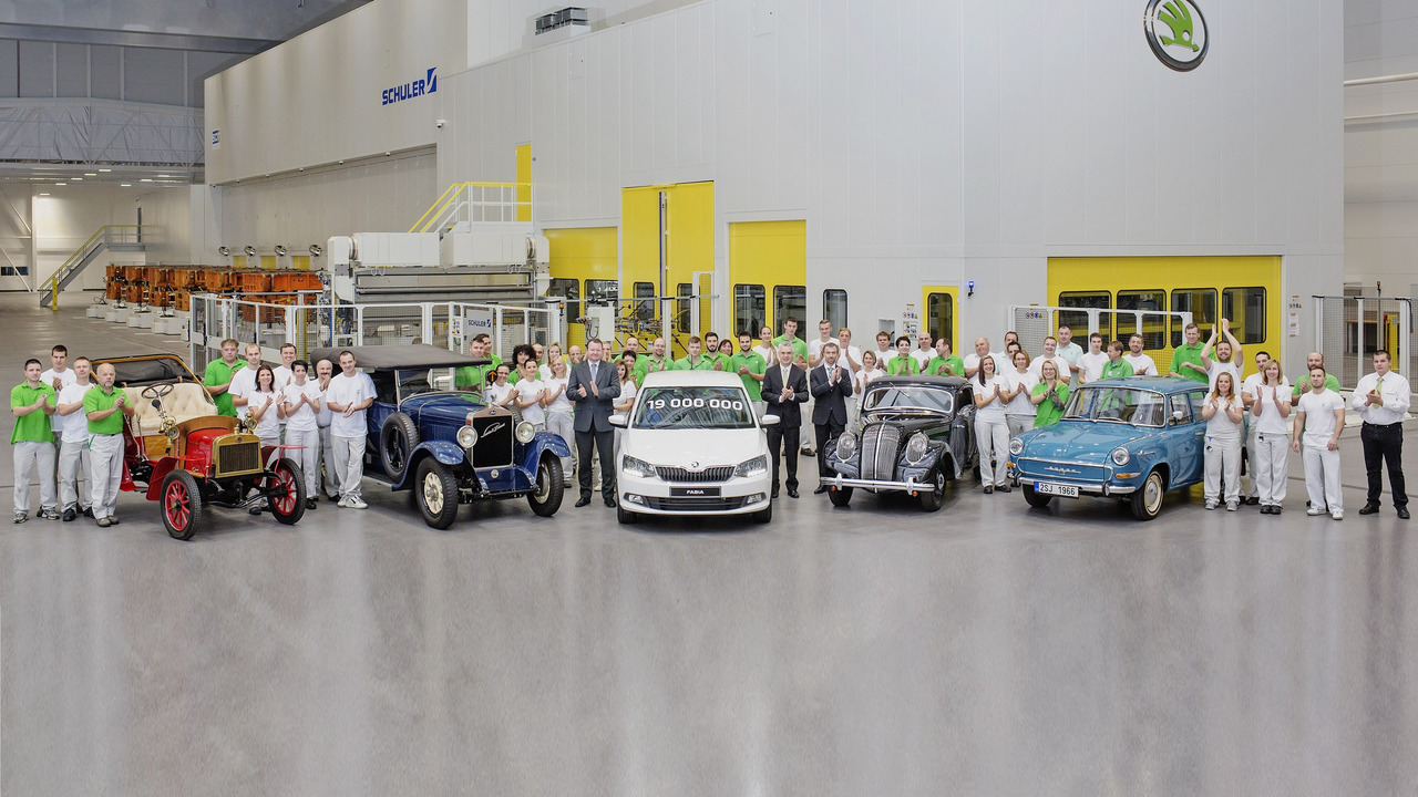 Skoda 19th millionth car