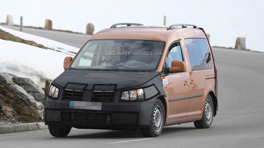 Facelifted Volkswagen Caddy spied once more, interior shots included