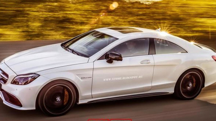 Mercedes-Benz CLS 63 AMG facelift loses rear doors through render