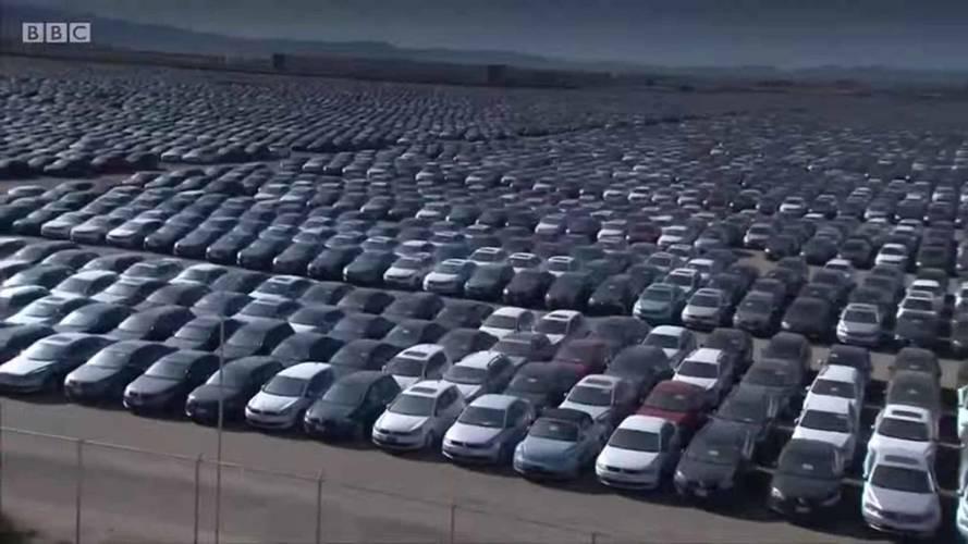 Aerial Footage Shows VW's Massive Diesel Vehicle Graveyard