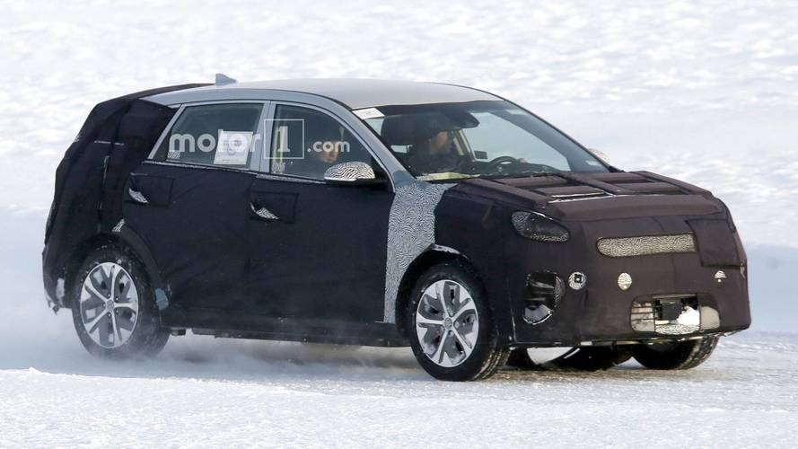 Kia Niro EV karda test edilirken yakalandı