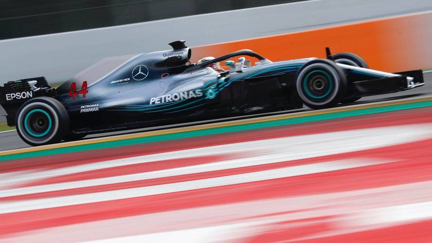 Hamilton puts Mercedes on top as first test ends