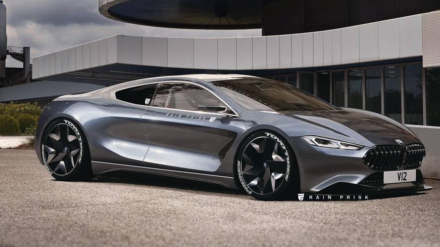 Ortadan motorlu bir BMW M8 nasıl görünürdü?