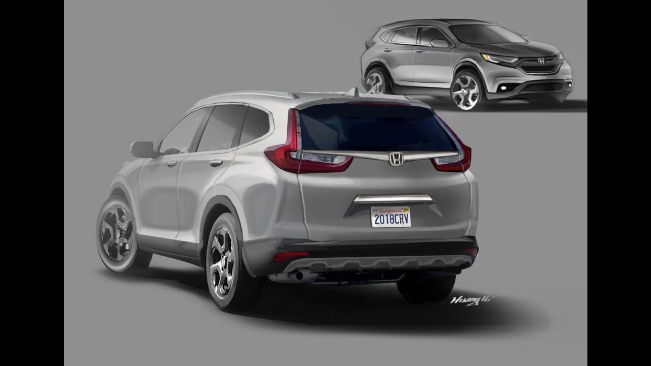 Flagra: próxima geração do Honda CR-V é clicada em testes