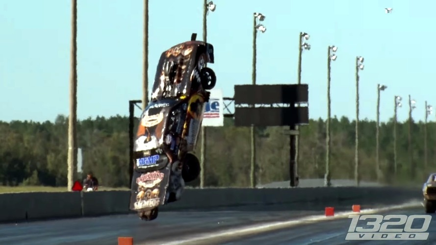 Ford Mustang dragster believes it can fly