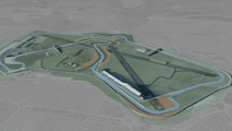 Computer generated image - Silverstone's Arena GP Circuit, being used for Formula 1 in 2010, 11.02.2010