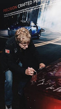2017 Acura NSX #001 being signed by Robert Redford