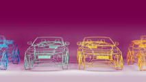 Land Rover Evoque Cabrio wireframe model