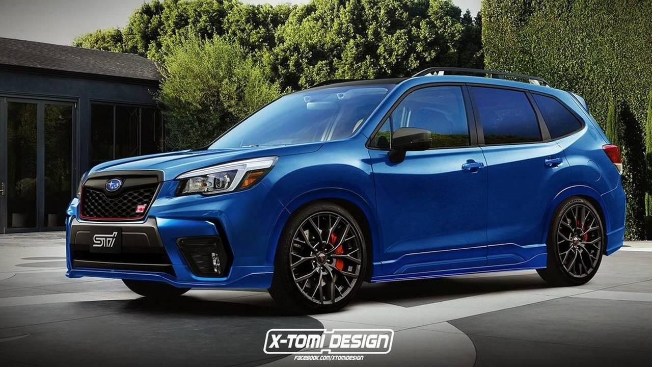 Subaru Forester STI render