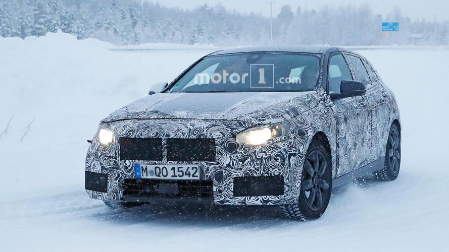 Cold-weather testing for new BMW 1 Series prototype