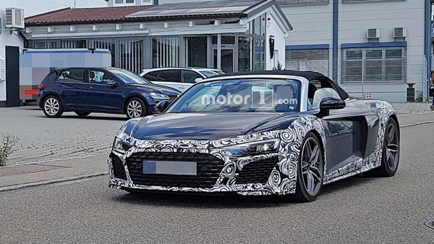 Audi R8 Spyder spied up close looking angrier