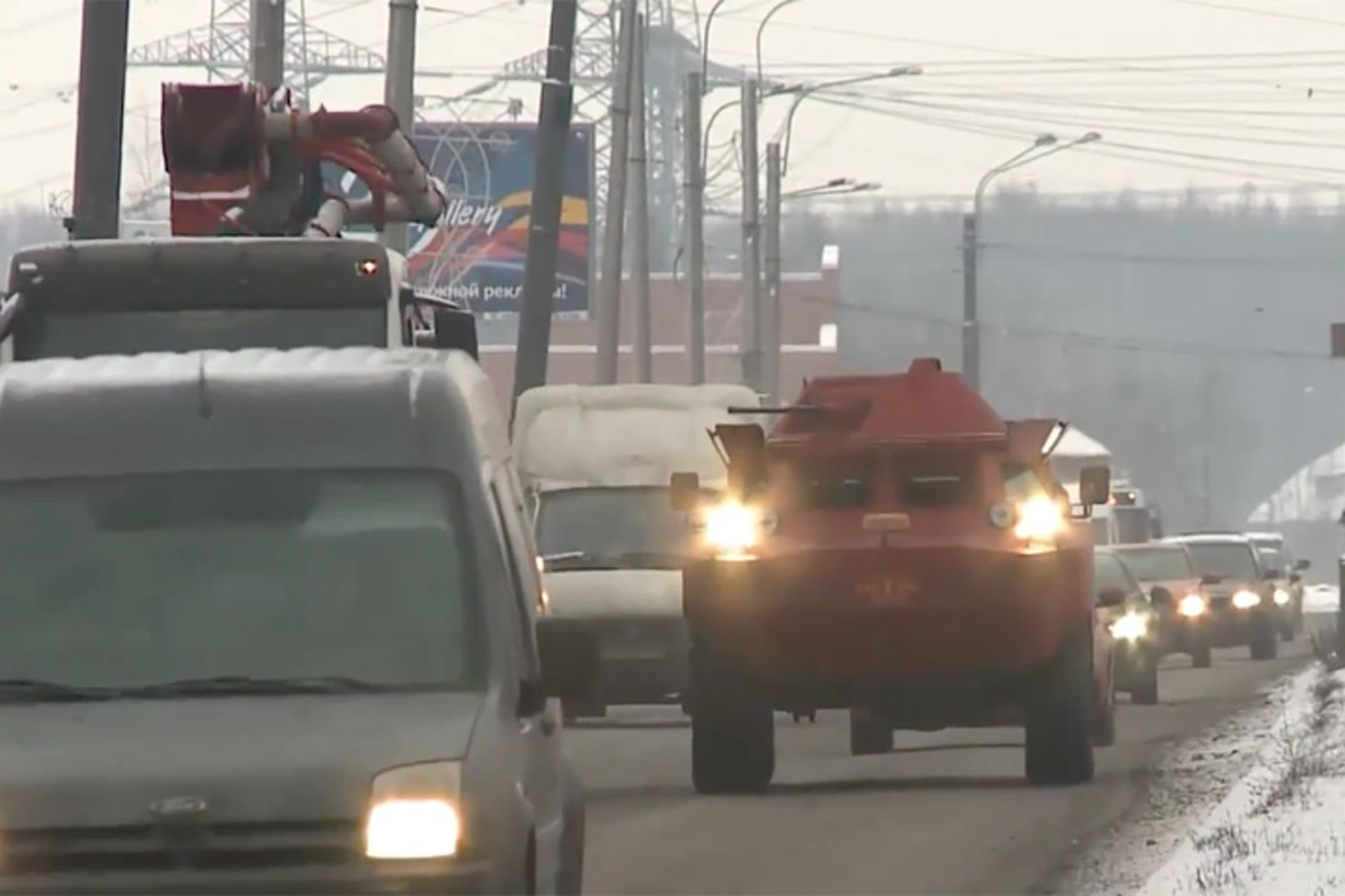 Russian Ex-Military Vehicle Now Serves as a Taxi