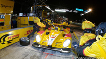 Pit stop for #7 Penske Racing Porsche RS Spyder: Romain Dumas, Timo Bernhard, Emmanuel Collard