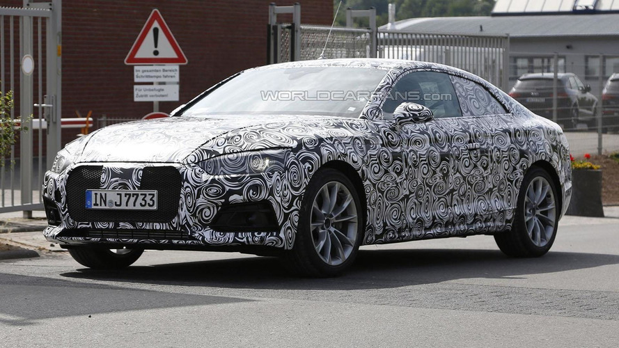2017 Audi A5 Coupe spied on the Nürburgring