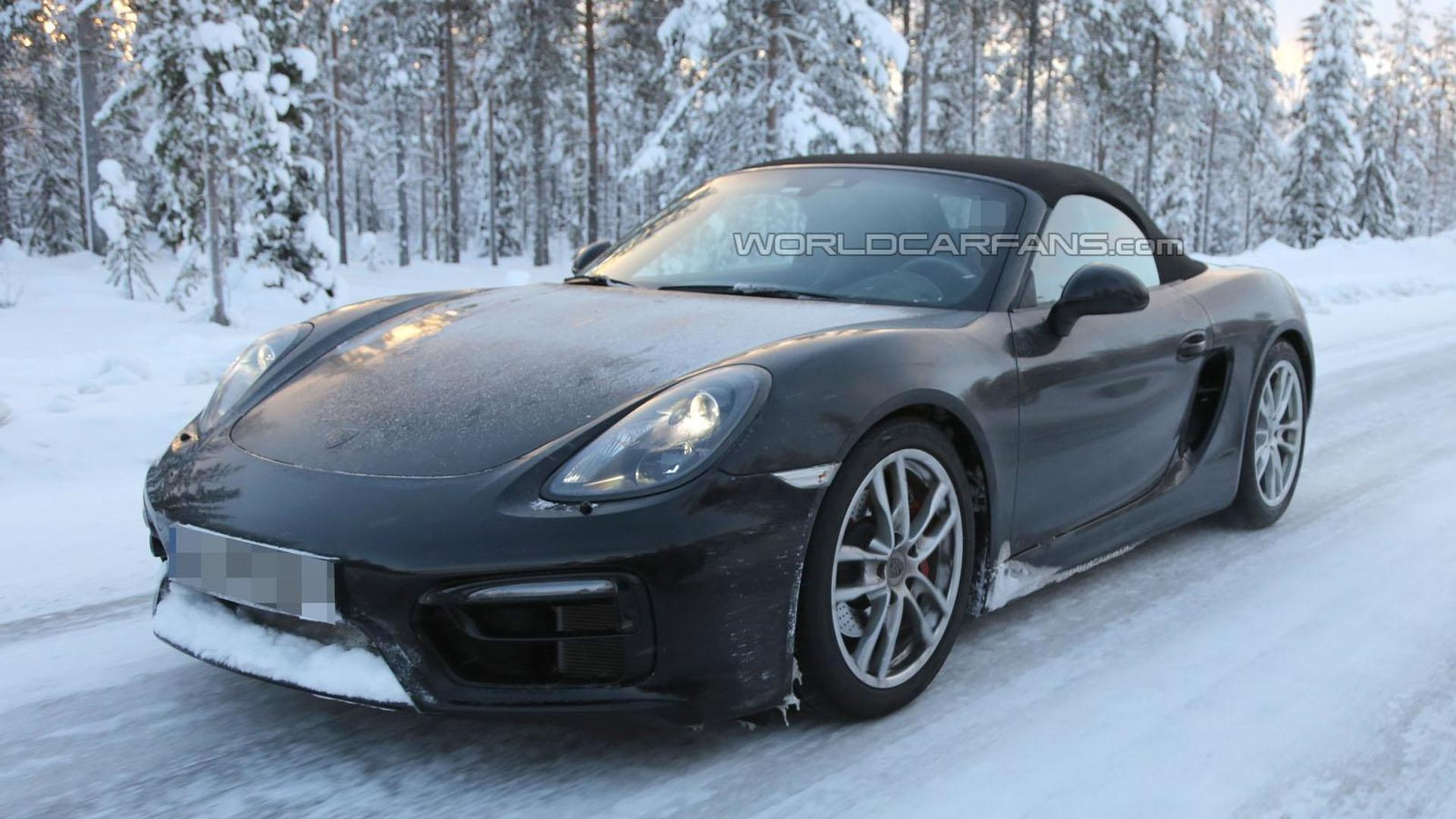 porsche boxster gts cayman gts spied cold weather testing