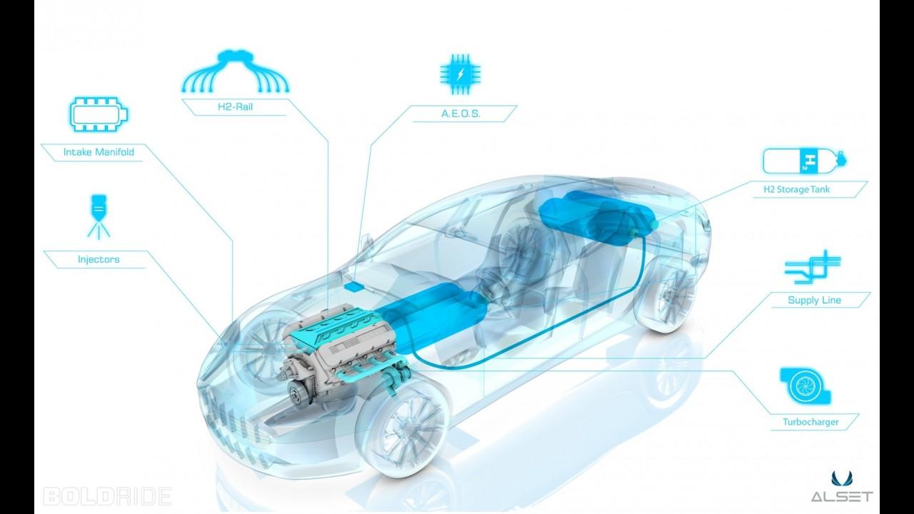 Aston Martin Hybrid Hydrogen Rapide S Race Car