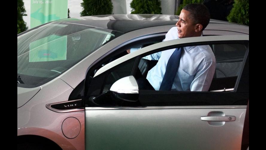 Con Chevrolet Volt Barack Obama è tornato a guidare