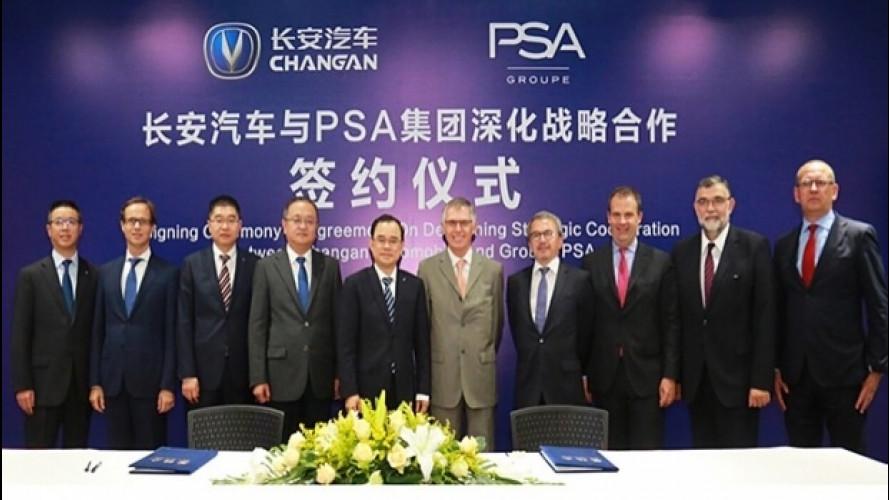 Groupe PSA e ChangAn Automobile, si rafforza l'accordo