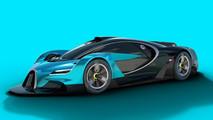 Bugatti: render coche de carreras