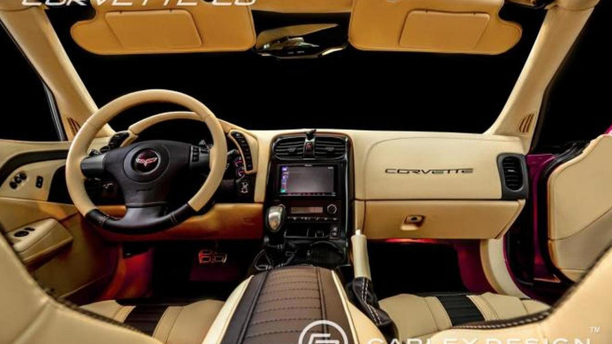 carlex restyles corvette c6 convertible interior. Black Bedroom Furniture Sets. Home Design Ideas