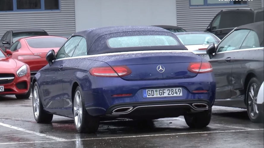 Mercedes C Class Cabriolet filmed without any camo [video]