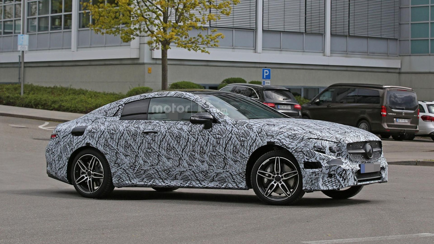 Mercedes E Class Coupe spy photos