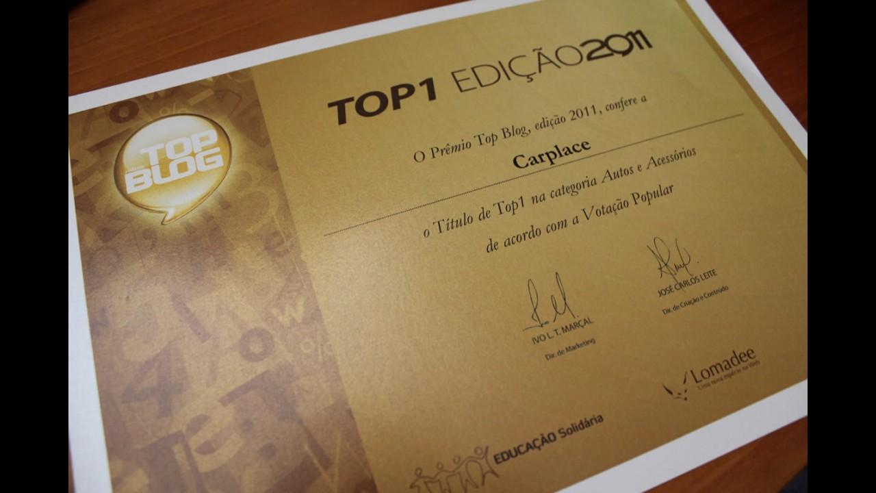 CARPLACE é eleito o Melhor Blog Automotivo do Brasil no Prêmio Top Blog 2011 - De Novo!!